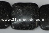 CSI129 15.5 inches 30*30mm square silver scale stone beads
