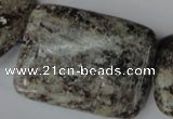 CSI50 15.5 inches 30*40mm rectangle silver scale stone beads wholesale