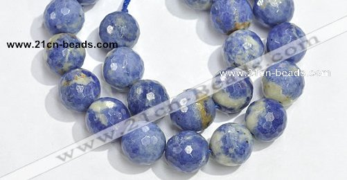 CSO20 12mm faceted round AB grade sodalite beads wholesale