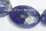 CSO27 15.5 inches faceted oval 13*18mm A grade sodalite beads