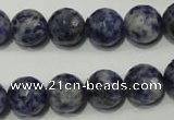 CSO304 15.5 inches 12mm faceted round Brazilian sodalite beads