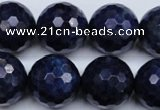 CSO418 15.5 inches 20mm faceted round dyed sodalite gemstone beads