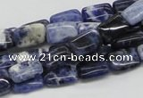CSO45 15.5 inches 8*12mm rectangle sodalite gemstone beads wholesale