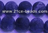 CSO459 15.5 inches 16mm round matte sodalite gemstone beads