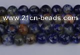 CSO510 15.5 inches 4mm round orange sodalite beads wholesale