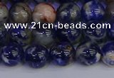 CSO513 15.5 inches 10mm round orange sodalite beads wholesale