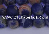 CSO524 15.5 inches 12mm round matte orange sodalite beads wholesale