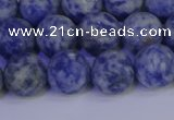 CSO533 15.5 inches 10mm round matte African sodalite beads wholesale