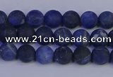 CSO541 15.5 inches 6mm round matte sodalite beads wholesale