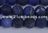 CSO544 15.5 inches 12mm round matte sodalite beads wholesale
