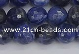 CSO561 15.5 inches 10mm faceted round sodalite gemstone beads