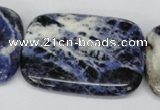 CSO58 15.5 inches 35*45mm rectangle sodalite gemstone beads