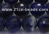 CSO605 15.5 inches 14mm faceted round sodalite gemstone beads