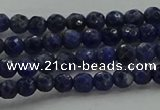 CSO641 15.5 inches 4mm faceted round sodalite gemstone beads