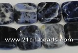 CSO65 15.5 inches 16*16mm square sodalite gemstone beads wholesale