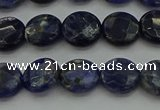 CSO705 15.5 inches 10mm faceted coin sodalite gemstone beads