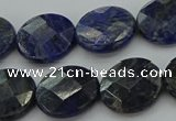 CSO708 15.5 inches 16mm faceted coin sodalite gemstone beads