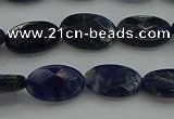 CSO715 15.5 inches 8*12mm faceted oval sodalite gemstone beads