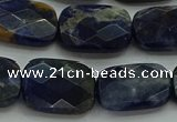 CSO738 15.5 inches 13*18mm faceted rectangle sodalite gemstone beads