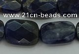 CSO739 15.5 inches 15*20mm faceted rectangle sodalite gemstone beads