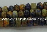 CSO761 15.5 inches 4*6mm faceted rondelle orange sodalite beads