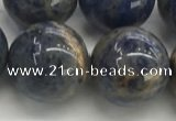 CSO837 15.5 inches 18mm round orange sodalite beads wholesale