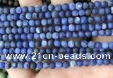 CSO840 15.5 inches 4mm round matte sodalite beads wholesale