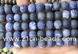 CSO843 15.5 inches 10mm round matte sodalite beads wholesale