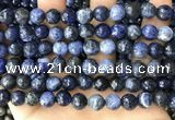 CSO847 15 inches 8mm faceted round sodalite beads wholesale