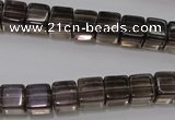 CSQ241 15.5 inches 8*8mm cube grade AA natural smoky quartz beads