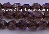 CSQ522 15.5 inches 8mm faceted nuggets smoky quartz beads