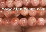 CSS300 15.5 inches 4mm round golden sunstone gemstone beads