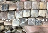 CSS425 15.5 inches 20*20mm square sunstone beads wholesale