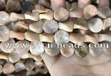 CSS437 15.5 inches 16mm twisted coin sunstone beads wholesale