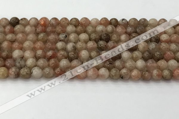 CSS721 15.5 inches 6mm round sunstone beads wholesale