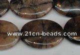 CST27 15.5 inches 22*30mm oval staurolite gemstone beads wholesale
