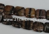 CST42 15.5 inches 12*12mm square staurolite gemstone beads wholesale