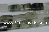CSW140 15.5 inches 8*12mm rectangle seaweed quartz beads wholesale