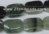 CSW143 15.5 inches 13*18mm rectangle seaweed quartz beads wholesale