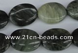 CSW154 15.5 inches 15*20mm oval seaweed quartz beads wholesale