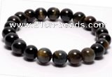 CTB02 7 inch 8mm round blue tiger eye stretch bracelet Wholesale