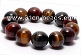 CTB08 7 inches 16mm round tiger eye stretch bracelet wholesale