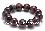 CTB10 8 inches 16mm round red tiger eye stretch bracelet