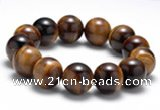CTB14 8 inches 16mm round yellow tiger eye stretch bracelet