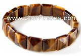 CTB15 7.5 inch 6*12mm square yellow tiger eye stretch bracelet