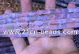 CTB252 15.5 inches 7*8mm - 7*11mm tube natural morganite beads
