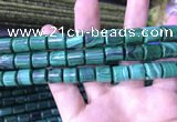 CTB259 15.5 inches 10*10mm - 10*12mm tube natural malachite beads