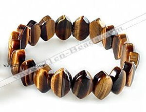 CTB28 7.5 inches 5*10*15mm oval tiger eye stretch bracelet