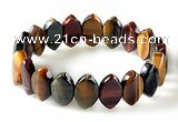 CTB29 7.5 inches 5*11*18mm oval tiger eye stretch bracelet