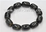 CTB30 8*25mm egg shape blue tiger eye stretch bracelet wholesale